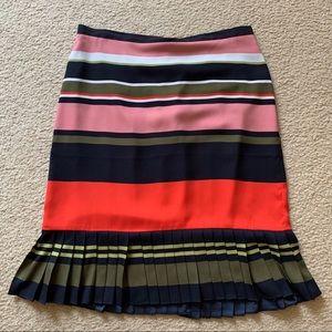 Ann Taylor striped pleated skirt
